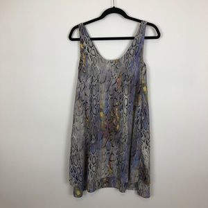Rachel Rachael Roy snakeskin tiered dress xs euc